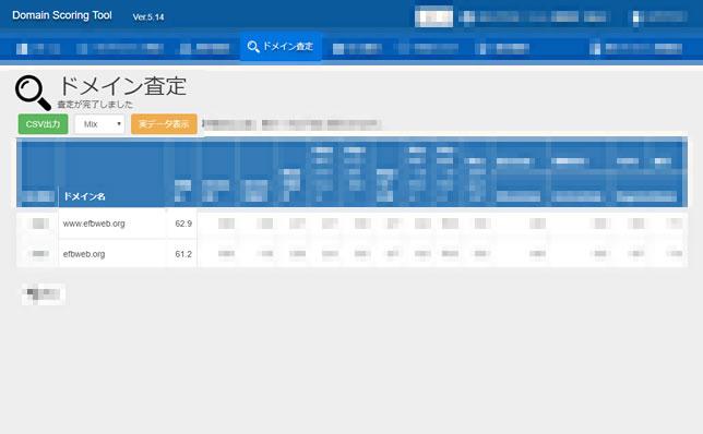 アクセスジャパンの自社用SEOツール「ドメイン査定ツール」の調査結果